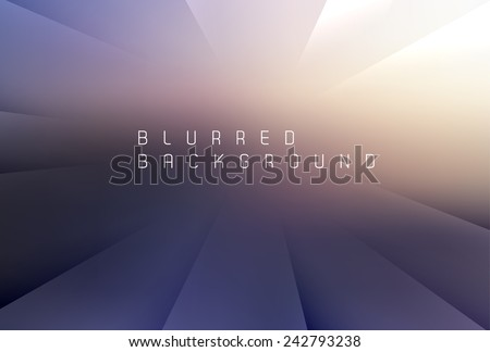 Abstract blurred background with place for your text - stock vector