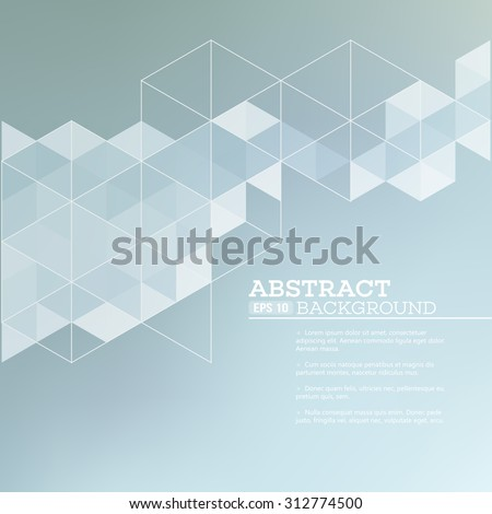 Abstract blurred background with   triangles.  Vector illustration EPS 10 - stock vector