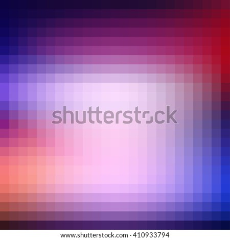 Abstract blurred mosaic background with neon illuminations. Vector graphic pattern