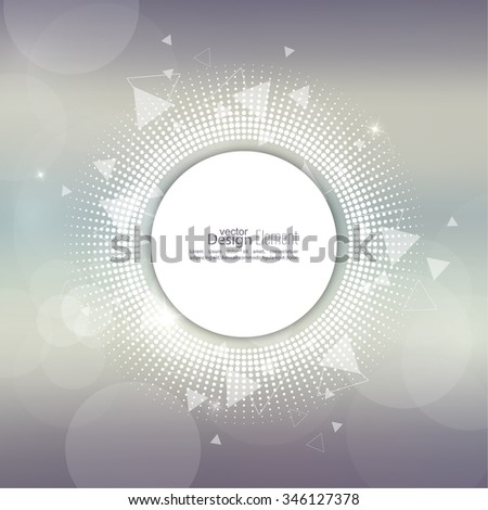Abstract blurred vector background with sparkle stars with round banner dots, scatter triangles. for Merry Christmas, New Year, anniversaries, festivals, birthday, Xmas. - stock vector