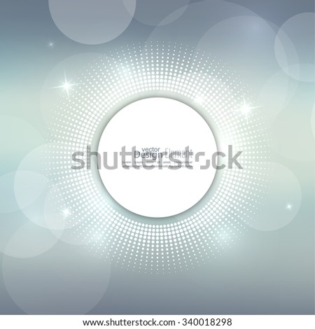 Abstract blurred vector background with sparkle stars with round halftone dots banner. for Merry Christmas, New Year, anniversaries, festivals, birthday, Xmas. - stock vector