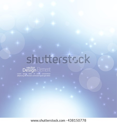 Abstract blurred vector subtle background with  glare sparkle stars. For decorations for Merry Christmas, New Year, festivals, birthday, xmas, glamour holiday, illuminated, celebration - stock vector