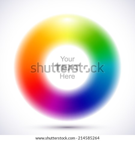 Abstract blurry color wheel. - stock vector