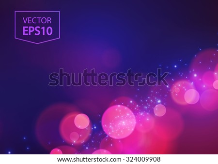 Abstract bokeh background. Vector illustration - stock vector