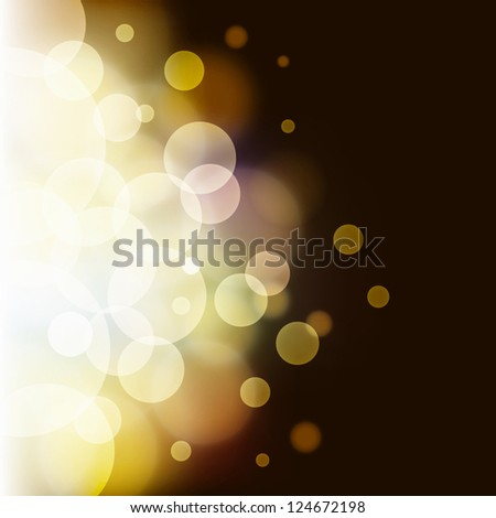 Abstract bokeh background, vector illustration with clipping mask - stock vector