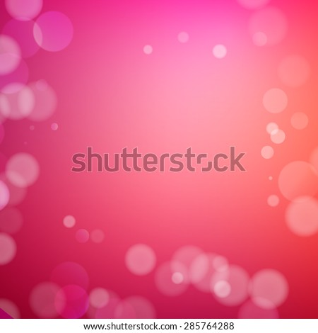 Abstract bokeh sparkles on red blurred background - stock vector