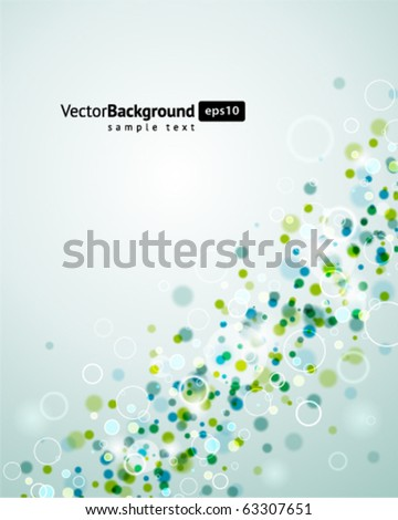 Abstract  bokeh vector background. Eps 10 - stock vector