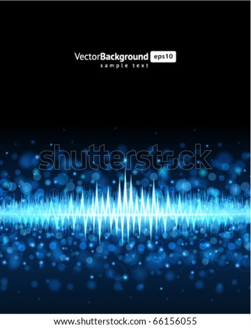 Abstract bokeh waveform vector background