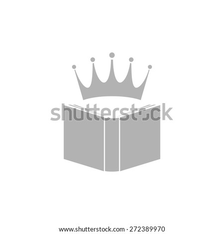 Abstract book icon with a crown. - stock vector