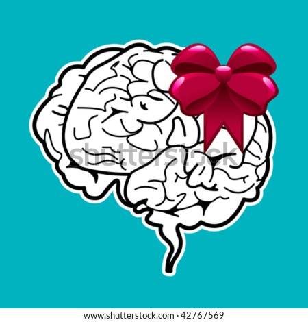 abstract brain gift - stock vector
