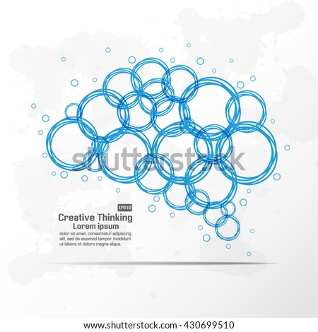 Abstract brain graphic - stock vector