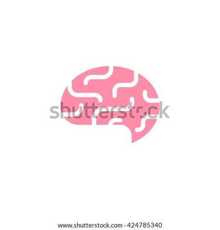 Abstract brain logo. Idea or creativity themed icon - stock vector