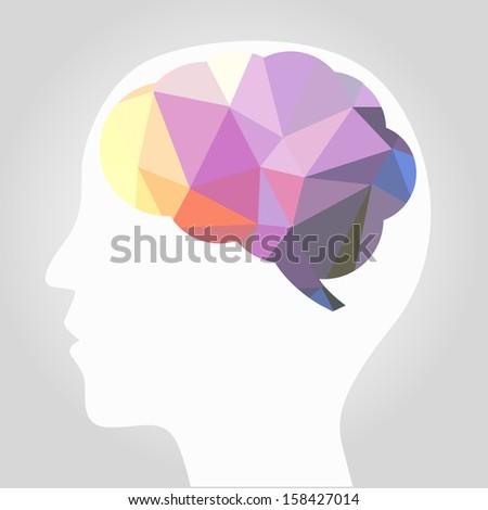 abstract brain vector - stock vector