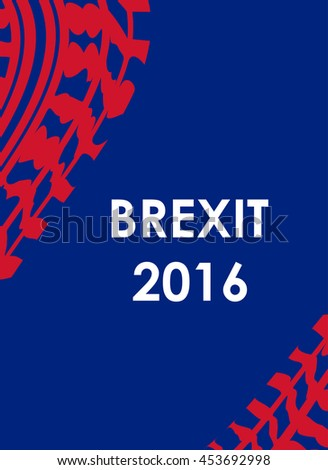 abstract brexit 2016 background with tire design - stock vector