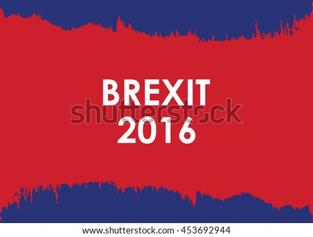 abstract brexit 2016 banner - stock vector