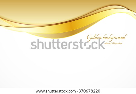 Abstract bright background in golden color vector illustration - stock vector