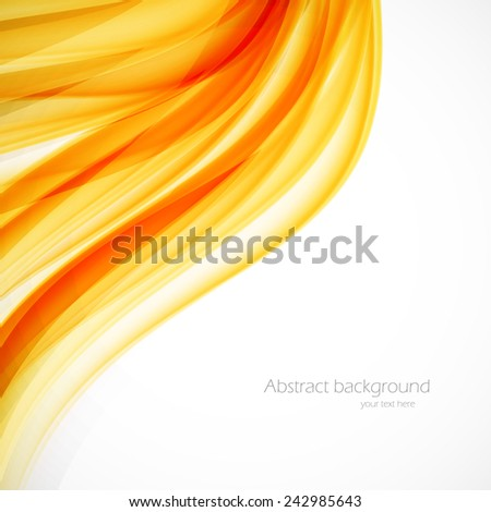 abstract bright background in orange color with soft lines