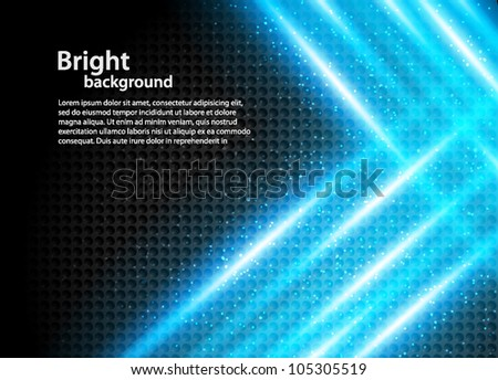 Abstract bright background with blue crossing rays