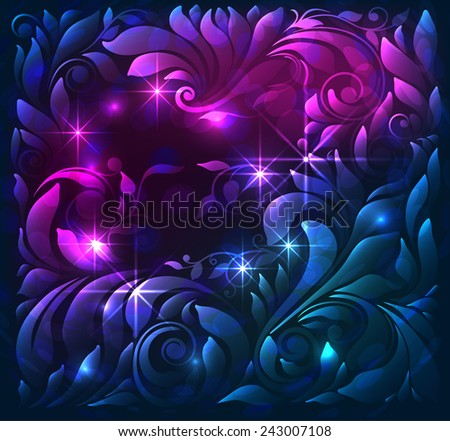 abstract bright background with effects - stock vector