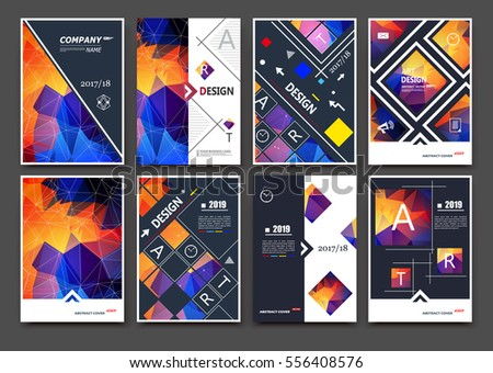 Abstract Bright Binder Art Patch Color A4 Brochure Cover Design Blurb Info Banner Frame