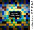 Abstract bright colored squares background mosaic for design - stock photo