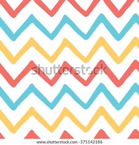 Abstract Bright Colorful Zigzag Seamless Pattern Stock Vector ...