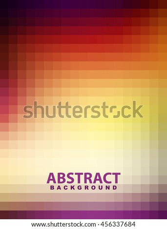 Abstract bright mosaic vertical pattern textured by squares. Vector graphic background. Flyer background. Dark light gradient background - stock vector