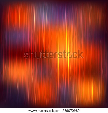 Abstract bright orange background with shine stripe - stock vector