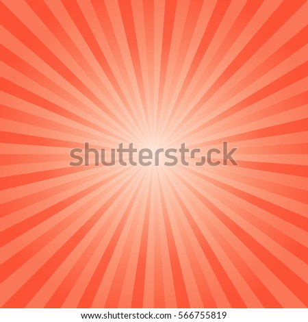Abstract Bright Orange Red Rays Background Stock Vector 566755819 ...