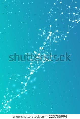 Abstract bright poster technological network - stock vector
