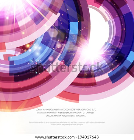 Abstract bright poster. Vector background.