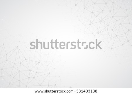 Abstract bright simple tech vector background. Connection structure. Polygonal vector abstract wallpaper. Abstract technology shapes. Vector science background - stock vector