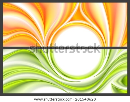 Abstract bright smooth waves pattern. Vector banners design - stock vector