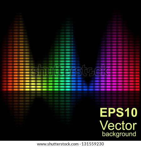 Abstract bright spectral chart with instability measures. - stock vector