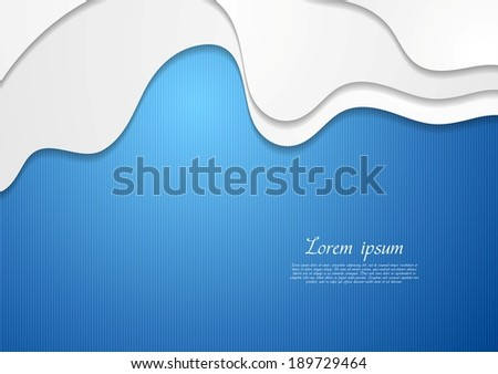 Abstract bright wavy background. Vector design eps10 - stock vector