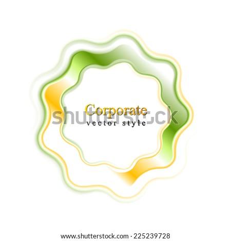 Abstract bright wavy logo ring. Vector design - stock vector