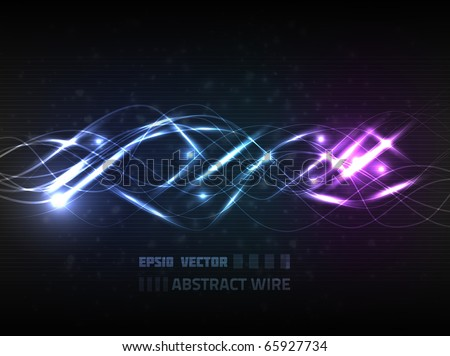 Abstract bright wire background, depicting communication concept.