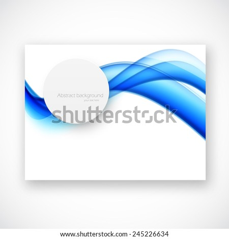 Abstract brochure catalog template design with circle - stock vector