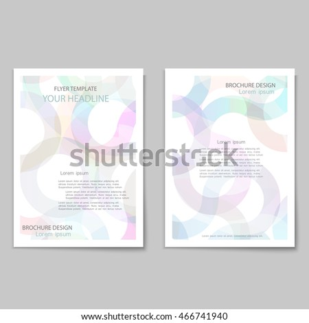 Abstract brochure cover template with transparent circles pattern / Modern design creative concept cover for flyer,catalog, report, brochure. Pink,white and blue colors vector background