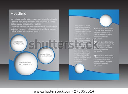 Abstract brochure design.Flyer design vector template.