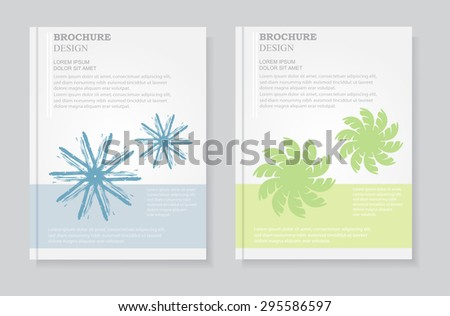 Abstract brochure design.Flyer design.Vector template.