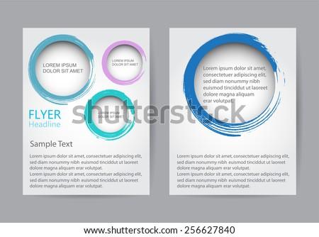 Abstract brochure design.Flyer design with circles.Vector template. - stock vector