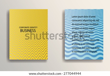 Abstract Brochure Design Template. Presentation Cover. Geometric Abstract Elements. - stock vector