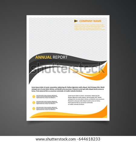 abstract brochure flyer design template in simple shades of orange and grey colors style