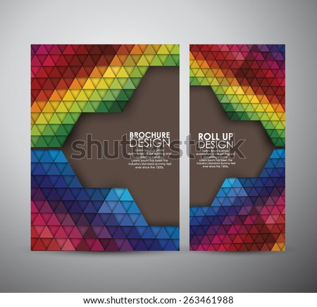 Abstract brochure triangle pattern with shadow. Geometric abstract texture. business design template or roll up. Vector illustration - stock vector