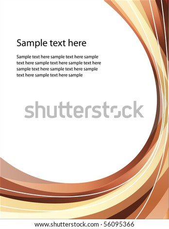 Abstract brown background - stock vector