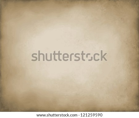 abstract brown background tan color, elegant warm background of vintage grunge background texture white center, brown paper bag style or old parchment for brochure, brown vector background, burnt edge - stock vector