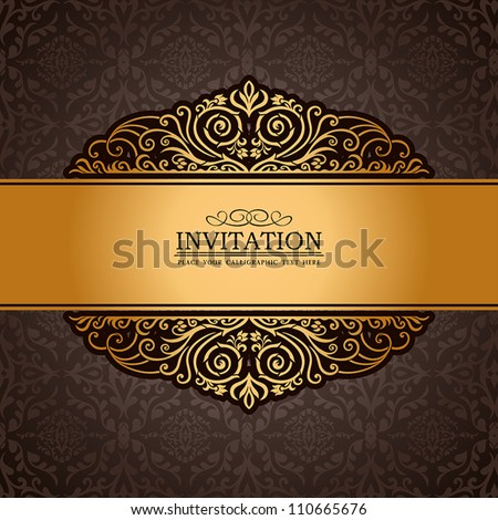 Abstract brown background exclusive antique luxury stock vector abstract brown background with exclusive antique luxury vintage gold frame creative stopboris Choice Image