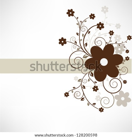 Abstract brown floral background..