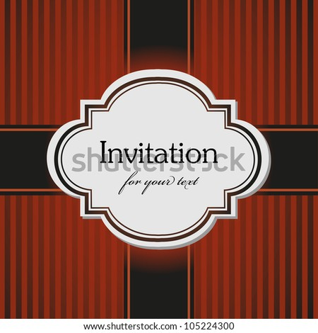 Abstract brown invitation design made from stripes, suitable for various occasions - stock vector